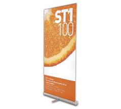Roll-up banner med en appelsin