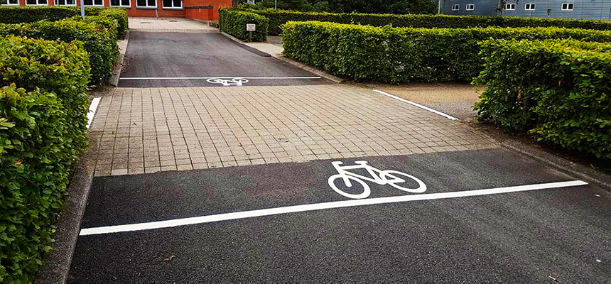 Afmærkning til cykelsti